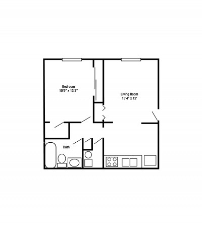 1A Apartment | Centennial Village Apartments and Townhomes