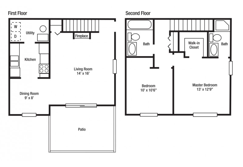 A Floor Plan | Remington Station Townhouses