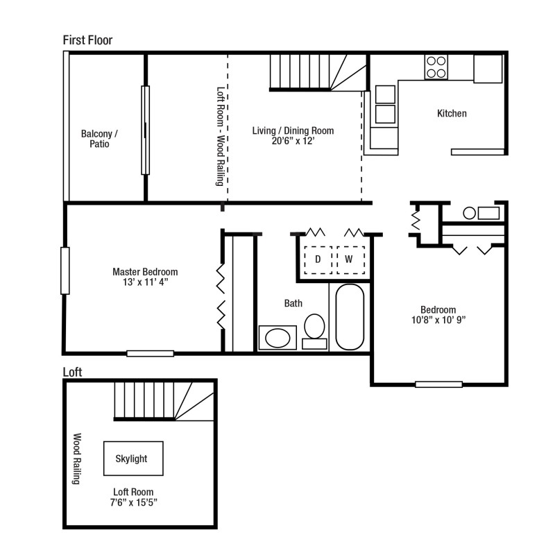 2F Two Bed/Two Bath | Versailles Gardens