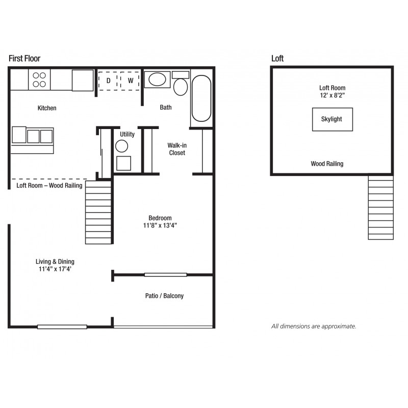 1C One Bed/One Bath, Some With Lofts | Yorkshire Woods Apartments and Townhomes