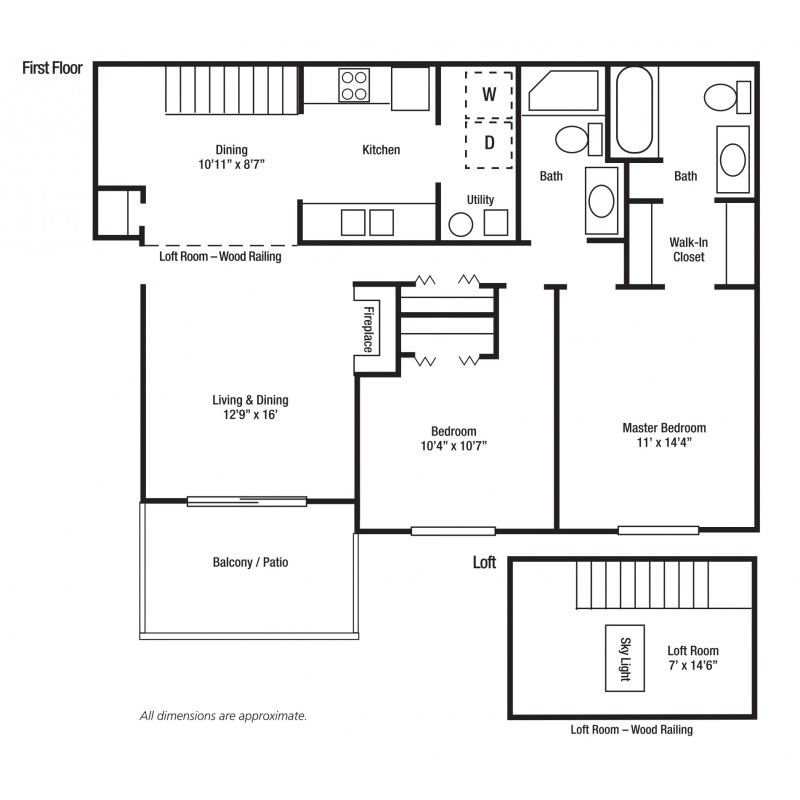 2E - Two Bed/Two Bath, Some With Lofts | Yorkshire Woods Apartments and Townhomes